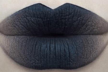 Макияж губ омбре